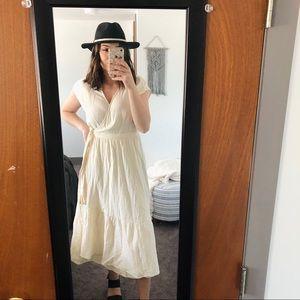 Universal Thread Cream Wrap Dress